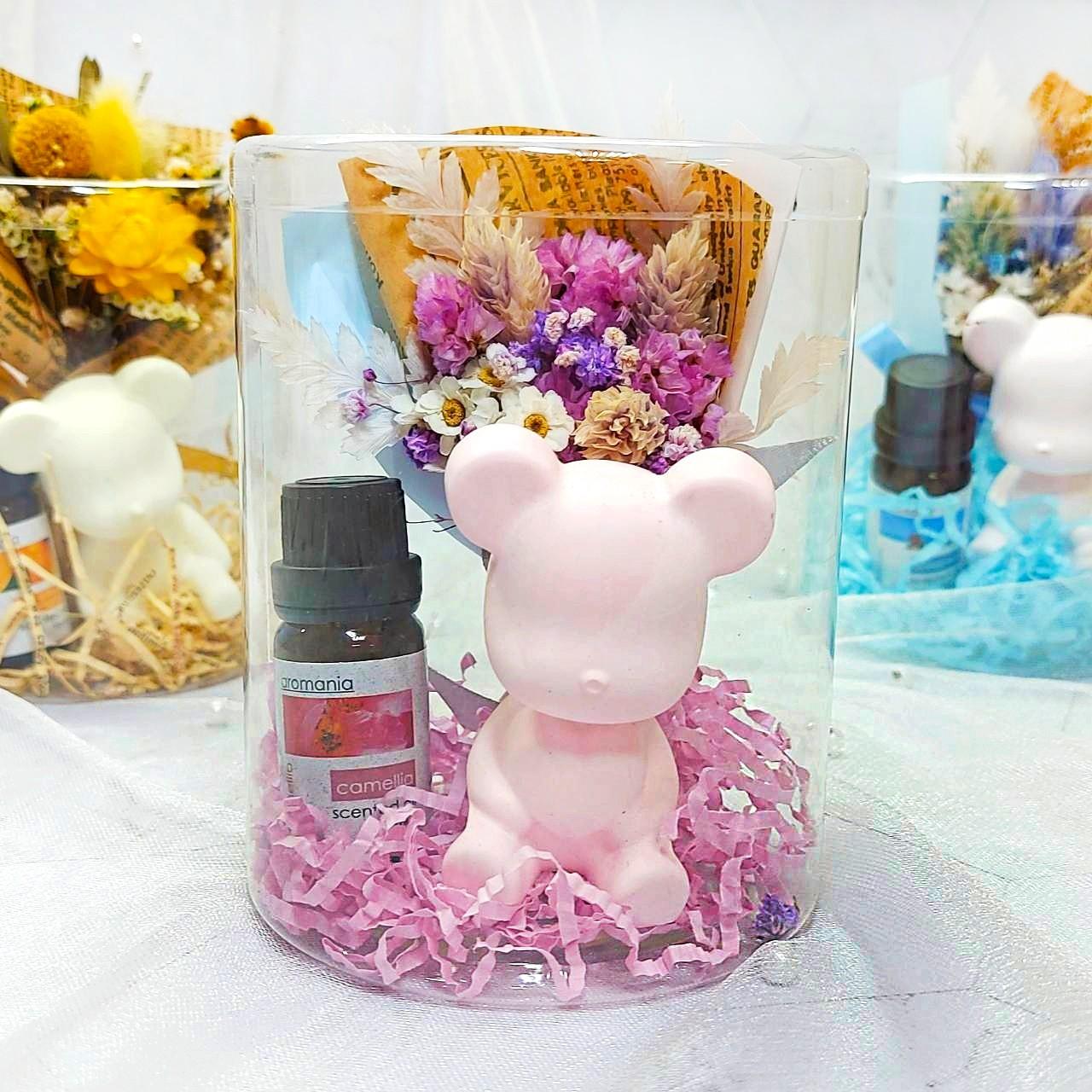 香氛熊乾燥花禮盒