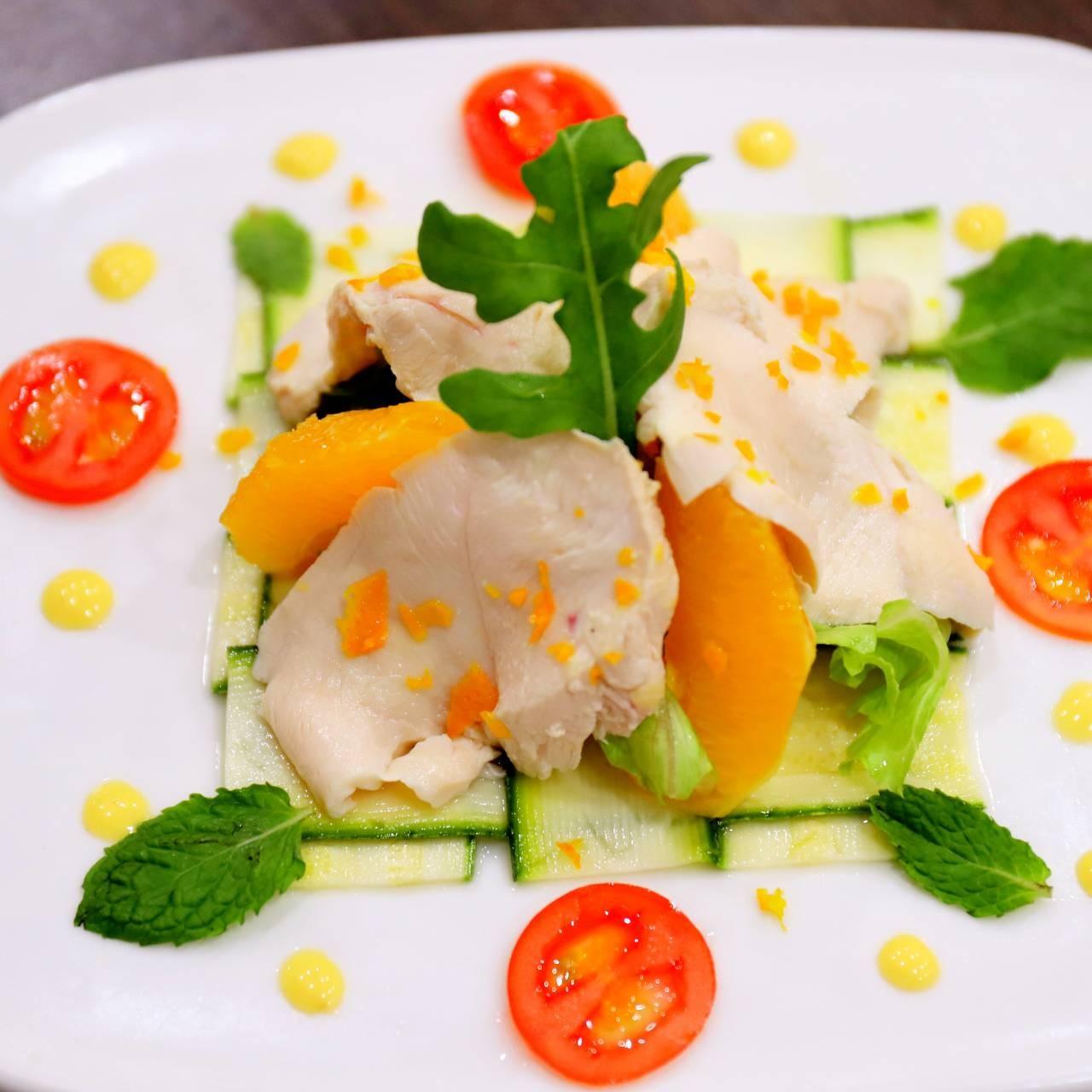 主廚私房菜:香橙雞肉蔬菜沙拉