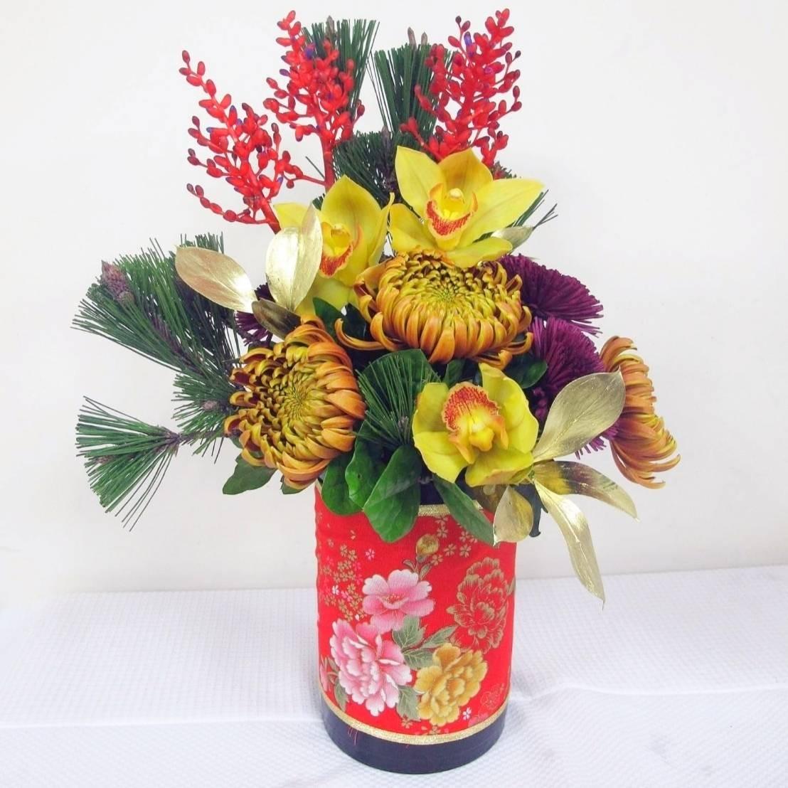 過年喜慶盆花