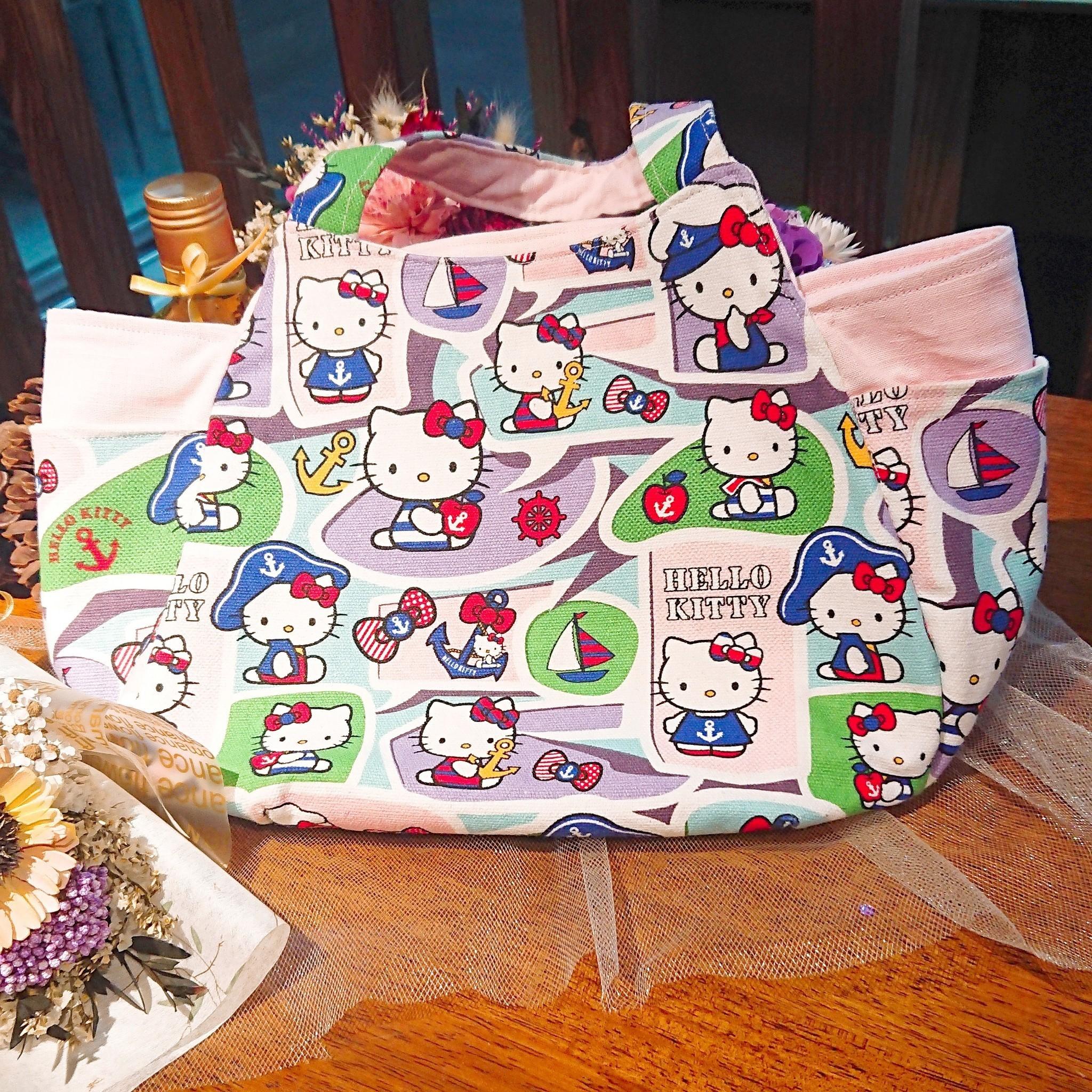 傢飾藝品-水手Kitty手提包