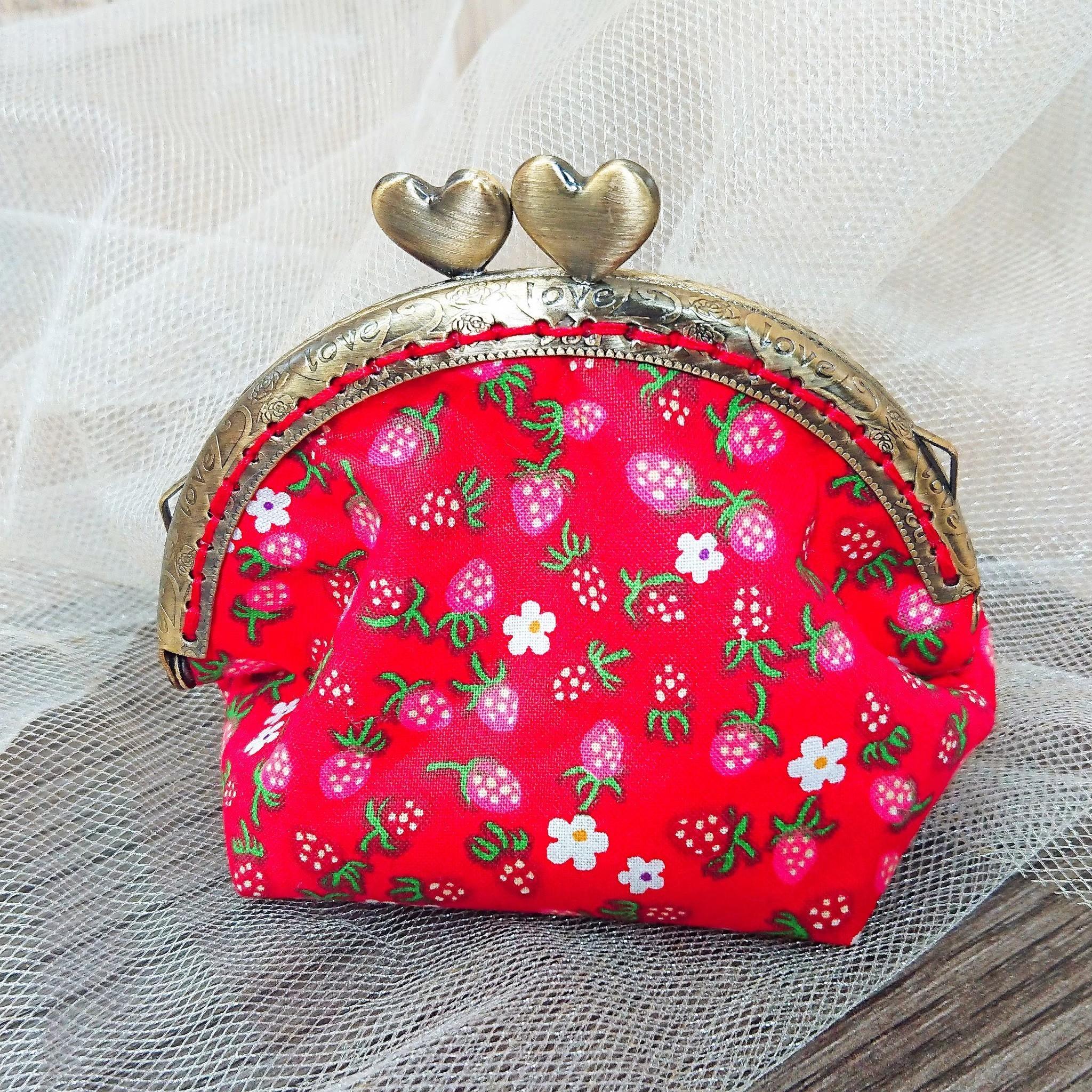 傢飾藝品-手作織布零錢包(草莓紅)