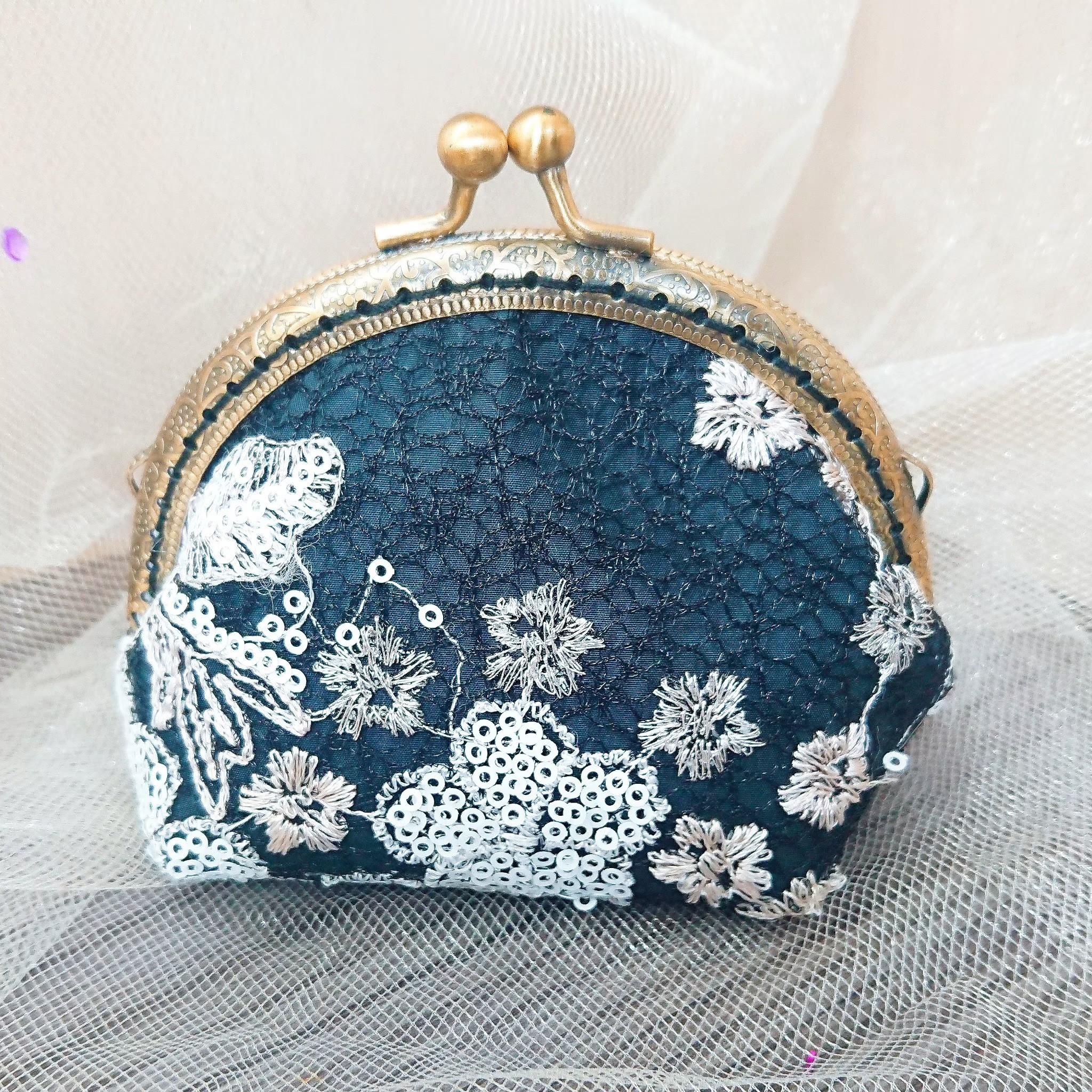 傢飾藝品-手作織布零錢包(編織黑)