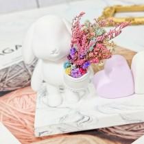 傢飾藝品-手工香氛花盆兔