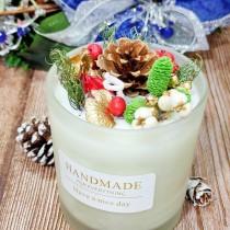 孟澧花坊-耶誕香氛大豆蠟燭台