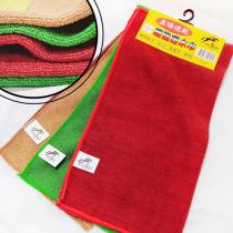 居家小物-【Felix Buhler】台灣製造《飛力飆馬 超細纖維超強吸水巾三入 綠紅咖》速乾抹布