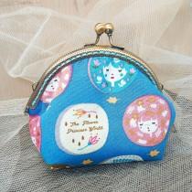傢飾藝品-手作織布零錢包(娃娃藍)