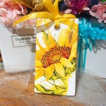 傢飾藝品-手工香氛石(長型)向日葵