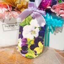 傢飾藝品-手工香氛石(長型)白紫花