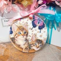 傢飾藝品-手工香氛石(圓型)King貓