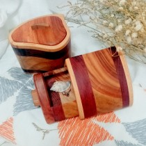 傢飾藝品-小原木飾品盒1個