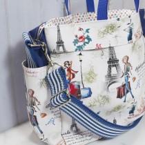 傢飾藝品-到巴黎旅行單肩手提包