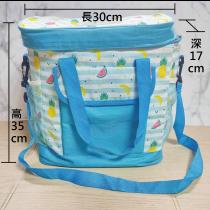水果藍方型餐袋